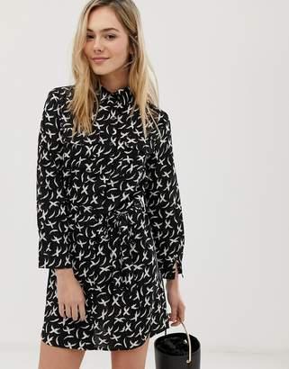 6bc98f56abf42 Angeleye AngelEye bird print shirt dress