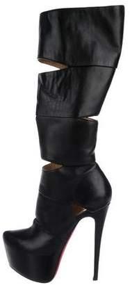 Christian Louboutin Bandita Platform Knee-High Boots