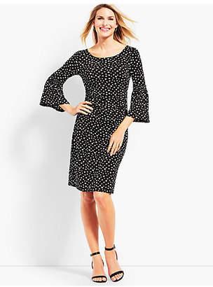 Talbots Dot Jersey Shift Dress
