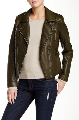 Rachel Roy Faux Leather Moto Jacket $180 thestylecure.com