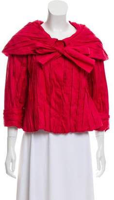 Marc Jacobs Pleated Tie-Accented Jacket