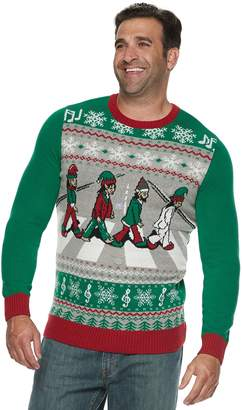 Big & Tall Abbey Road Elves Light-Up Christmas Sweater