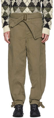 J.W.Anderson Khaki Dyed Army Trousers