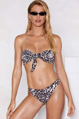 Nasty Gal Cool Cat Leopard Bikini Set