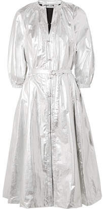 Opening Ceremony Metallic Shell Trench Coat - Silver