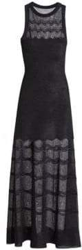 Alaia Cotillon Knit Illusion-Hem Gown