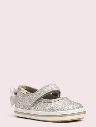 Kate Spade Keds X Sloan Mary Jane Crib Sneakers, Silver - Size 1