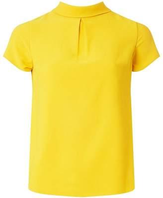 Dorothy Perkins Womens Petite Ochre Roll Neck T-Shirt