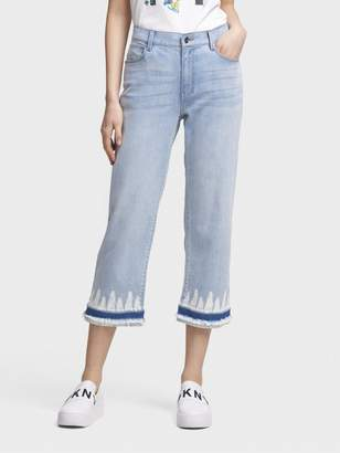 DKNY The Cropped Jean-Tie Dye