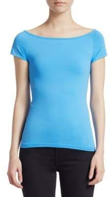 Helmut Lang Boatneck Short Sleeve Top