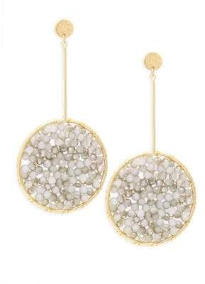 Panacea White & Gray Crystal Drop Earrings