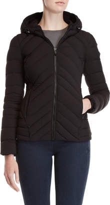 BCBGMAXAZRIA Hooded Quilted Down Coat