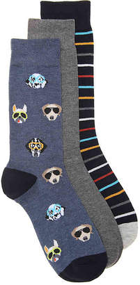 Aston Grey Sunglasses Dogs Dress Socks - 3 Pack - Men's