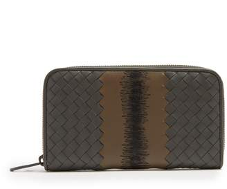 Bottega Veneta Intrecciato woven stitch-detail zip-around wallet