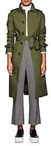 VIS A VIS Women's Belted Trench Coat - Olive