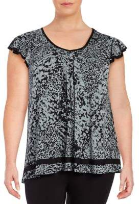 Ellen Tracy Plus Yours to Love Short Sleeve Top