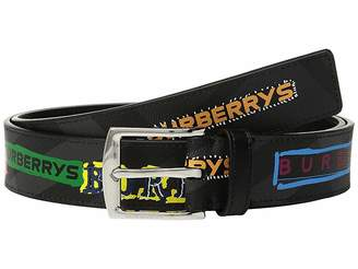 Burberry Check Printed Belt