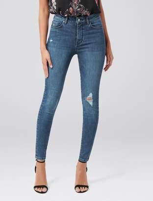 Forever New Zoe Mid-Rise Ankle Grazer Jeans - Paris Blue Distress - 4