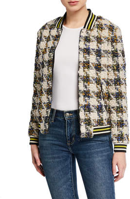Anna Sui Sui By Sparkle Houndstooth Bomber Jacket