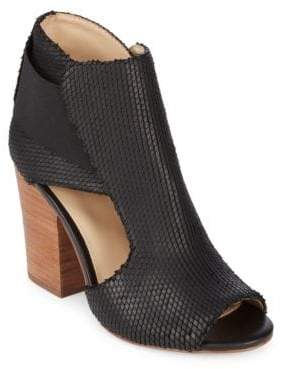 Botkier New York Maddy Leather Peep Toe Booties