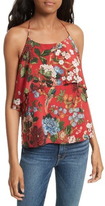Women's Alice + Olivia Marybeth Layer Ruffle Halter Top $330 thestylecure.com