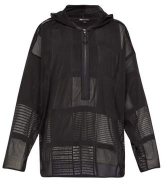 Y-3 Y 3 Hooded Mesh Sweatshirt - Mens - Black