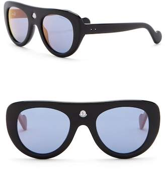 Moncler Snowcat 51mm Flat Top Sunglasses