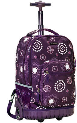 "Rockland Purple Pearl 19"" Rolling Backpack"