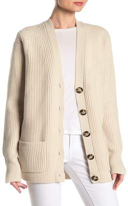 Helmut Lang Distressed Wool Cardigan