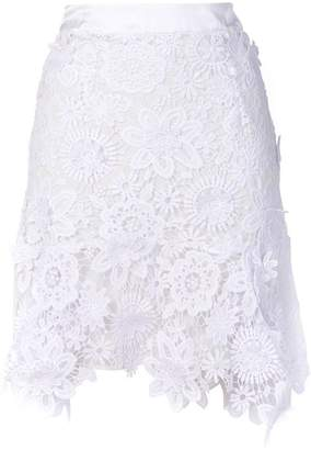 Just Cavalli lace-embroidered skirt