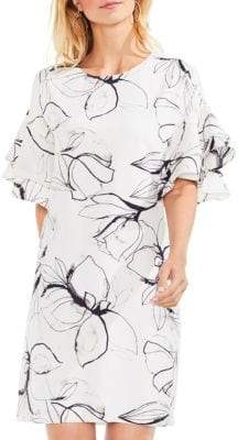 Vince Camuto Tiered Ruffle Fresco Petals Dress