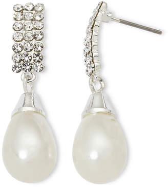 VIESTE ROSA Vieste Rhinestones and Simulated Pearl Drop Earrings