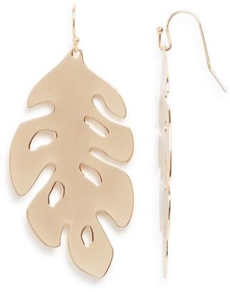 AQUA Koko Leaf Drop Earrings - 100% Exclusive $24 thestylecure.com