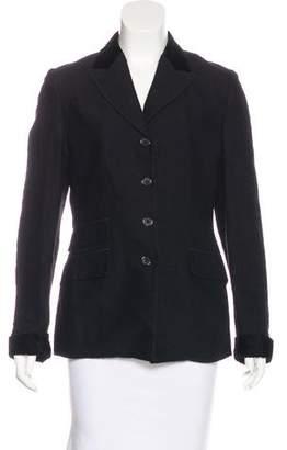 Etro Wool Velvet-Trimmed Blazer
