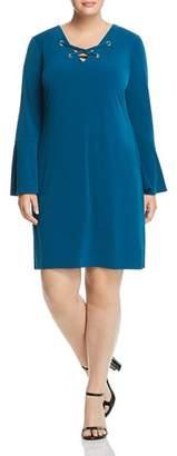 MICHAEL Michael Kors Grommet Lace-Up Shift Dress