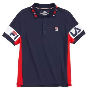 Fila Colorblock Cotton Pique Polo