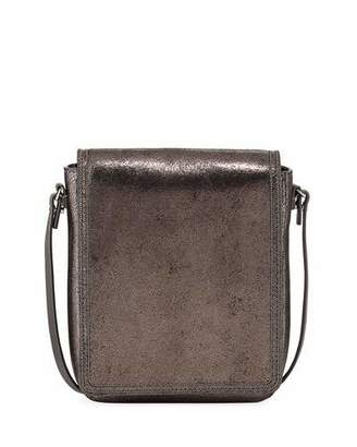 Brunello Cucinelli Metallic Leather Crossbody Messenger Bag