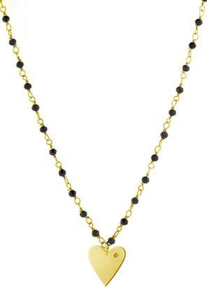 ADORNIA Rosary Heart Pendant Necklace
