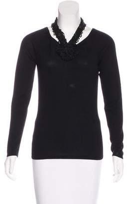 Naeem Khan Cashmere Embellished Sweater