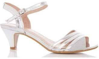 Dorothy Perkins Womens *Quiz Silver Metallic Heel Sandals