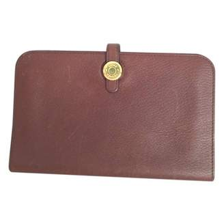 Hermes Dogon leather portefeuille