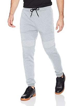 Southpole Men's Basic Jogger Fleece Pants (Moto and Zipper Details)
