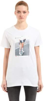 Instagram Picture Cotton Jersey T-Shirt
