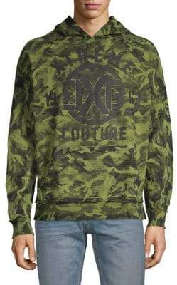 Graphic Camouflage-Print Cotton Hoodie