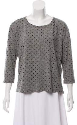 Current/Elliott Polka Dot Crew Neck T-Shirt