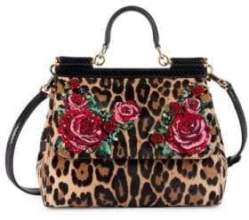 2d9f3ccbd46 Dolce   Gabbana Dolce  Gabbana Dolce  Gabbana Women s Medium Leopard Floral  Sicily Satchel - Leopard