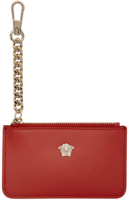 Versace Red Small Medusa Coin Pouch