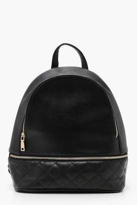 boohoo Quilt Base Zippered Backpack