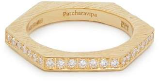 Patcharavipa - 18kt Gold And Diamond Pavé Hexagon Ring - Womens - Gold