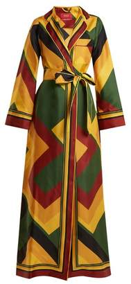 Roda F.R.S – FOR RESTLESS SLEEPERS colour-block silk wrap dress